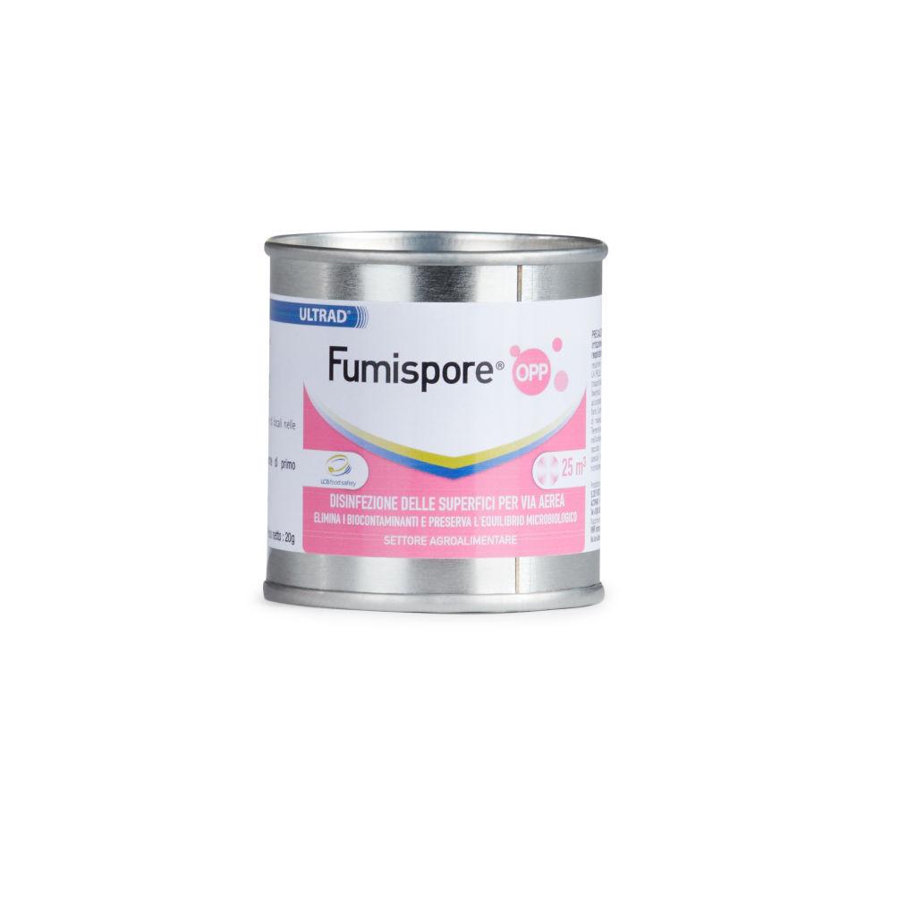 Disinfettante Fumispore OPP – Elimina fino al 99,99% batteri, muffe, lieviti e funghi – per volumi di 25 – 50 m3