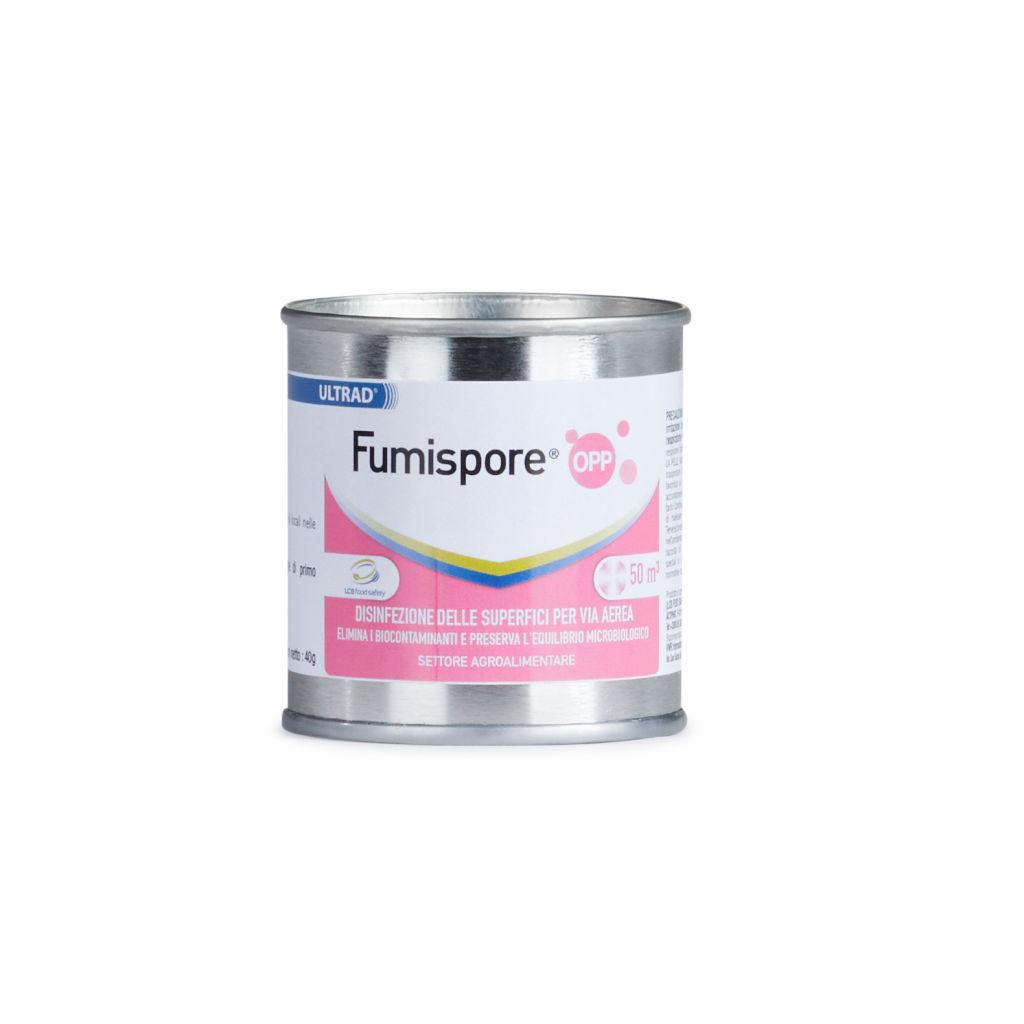 Disinfettante Fumispore OPP – Elimina fino al 99,99% batteri, muffe, lieviti e funghi – per volumi di 50 – 100 m3