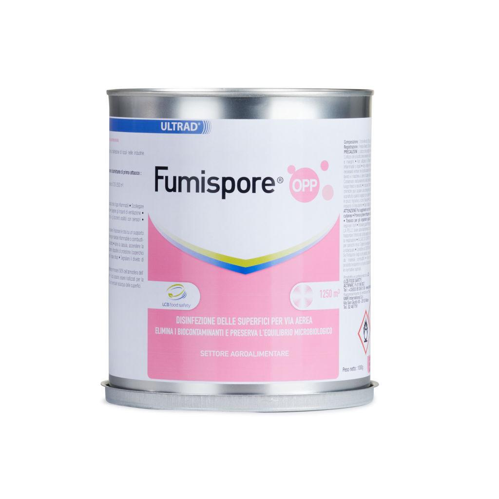 Disinfettante Fumispore OPP – Elimina fino al 99,99% batteri, muffe, lieviti e funghi – per volumi di 1250 – 2500 m3